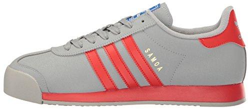 Adidas Originals Men's Samoa Fashion Sneaker, Mid Grey Poppy/Satellite, 11 M US