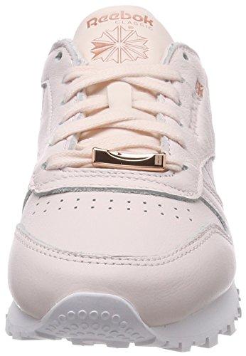 Classic Damen Pale Pinkwhiterose Reebok Gold Hardware Gymnastikschuhe Leather Pink qBxx5dAw