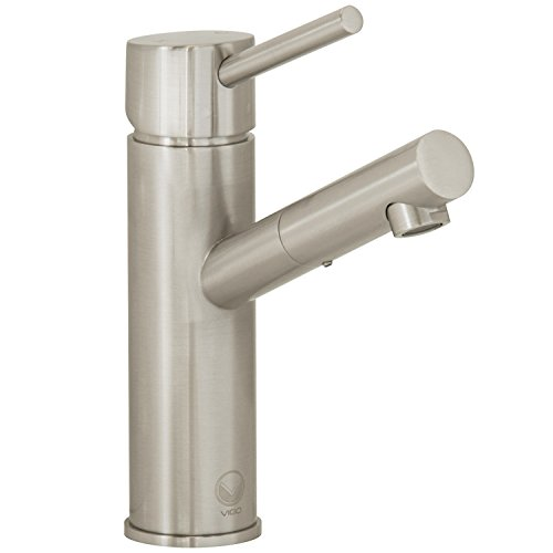 VIGO Noma Single Lever Basin Bathroom Faucet, Brushed (Pvd Single Lever)