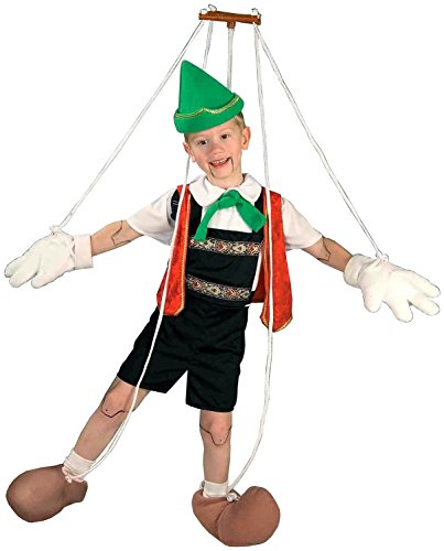 [Forum Novelties Pinocchio Puppet Costume, Large] (Marionette Girl Costume)