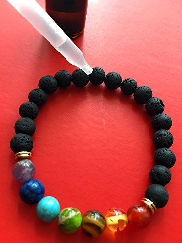 Set of 2 Handmade Couples Yoga Bracelets With Healing Reiki Gem Stone 7 Chakra Natural Matte Agate and Lava Stone For Men, Women, And Teenagers Perfectly Unique Gift For Valentines Day by Lavish Life (Image #6)