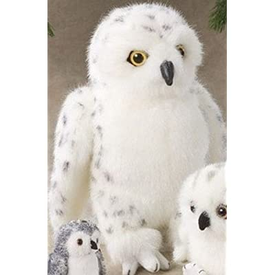 "10"" Snowy Owl Plush Stuffed Animal Toy"