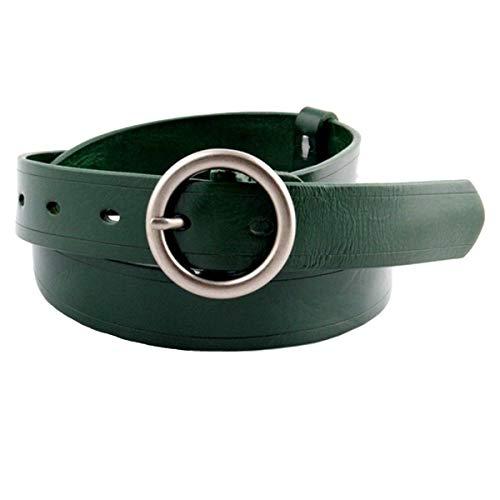 Dimensione Dimensione Dimensione Cintura Semplice Ampia con Fibbia Verde Verde Verde FuweiEncore Decorativa Colore in Pelle Blu Cinturino Casual Taglia Cintura Unica Uomo con Donna Paq1wCg