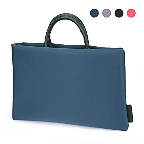 Ladies Briefcase Green (13 Inch Laptop Tote Bag, EKOOS Water-resistant Nylon Laptop Business Briefcase Handbag Carrying Bag Laptop Sleeve With Handle for Macbook Pro / Notebook Women/Men ( Dark Green ))