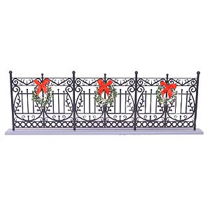 Byers' Choice Wrought Iron Fence (Aluminum Decorative Fence)