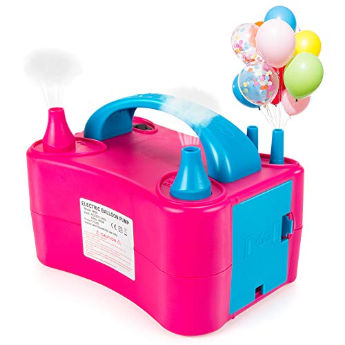 - Electric Portable Balloon Inflator/Lesin Portable Dual Nozzle Plum Pink 110V 400W Electric Balloon Blower Pump For Decoration