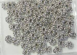 One Box of 240PCS Antiqued Gold Metal Bee Daisy Spacer Beads for Jewelry Making