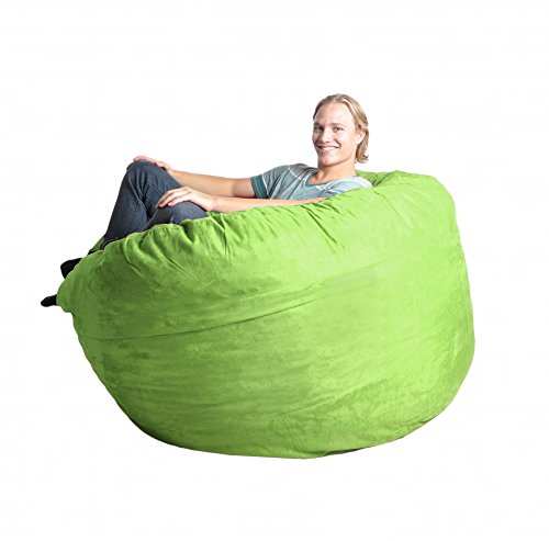 SLACKER sack 5-Feet Foam Microsuede Beanbag Chair for Teens, Large, Lime Green