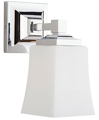 Brighton 1 Light Bathroom Vanity Fixture Chrome w/Frosted Glass Linea di Liara LL-WL240-1-PC