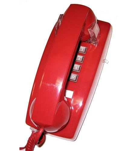 Cortelco 255447-VOE-20MD Wall Value Line VOE Red