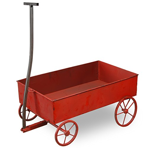 (National Tree 21 Inch Metal Red Wagon (RAS-HR140071L))