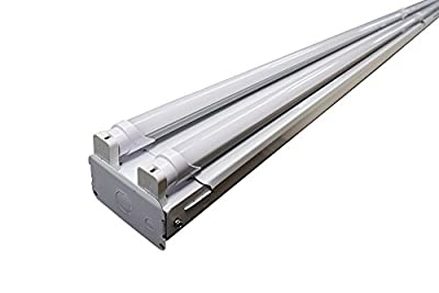 Orilis 8 Ft LED Linear 88W Commercial Grade LED High Output 4 Light T8 Fixture (4) 4 Ft Single Ended 22W LED Tubes 5000K - 10500 Lumens - DLC and UL Listed (Replaces 256W Fluorescent Fixture)
