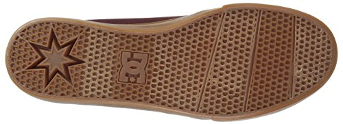 DC Men's Trase TX Unisex Skate Shoe Burgundy/Tan Manchester for sale tCWv3K