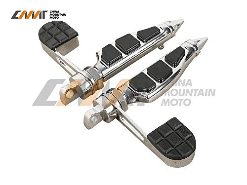 Frames & Fittings Stiletto Foot Pegs Footrest & Heel Stirrup case for Harley Softail Sportster 883 1200