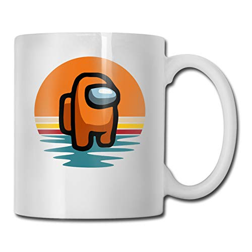 Among Us On Retro Vintage Coffee Mug, Tea Cup for Office and Home- Makes a Great Gift for Gamers,11OZ