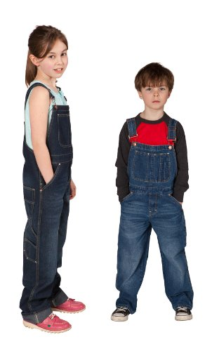 Uskees Kids Overalls Age 4 6 8 Stonewash Blue Girls Boys Overalls KD01