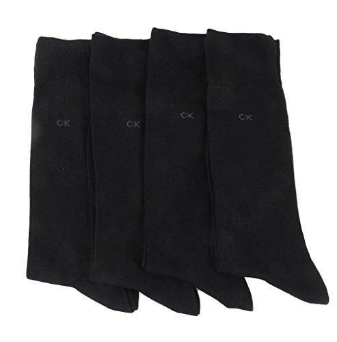Calvin Klein Knit Crew Socks 4-Pack,Black,Shoe7-12