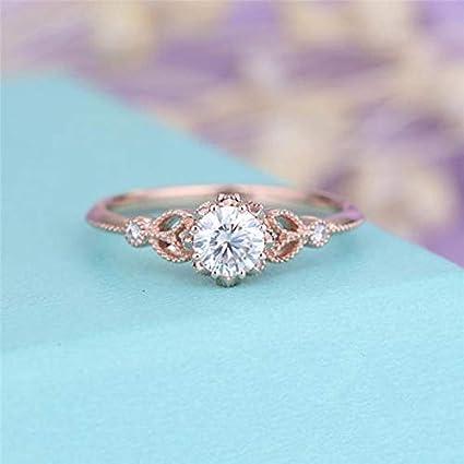 Amazon.com Nutchanan Rose Gold Engagement Rings for Women