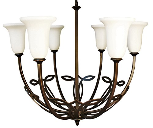 Montreal 5 Light Chandeliers (Ulextra Traditional and Modern Chandelier Pendant Lighting for Dining Room / Living Room / Hallway / Kitchen / Study - (8 styles available) (DARK OIL RUBBED BRONZE - 200))