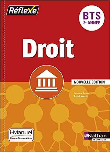 Amazon Fr Droit Bts 2e Annee Collection Reflexe Marie
