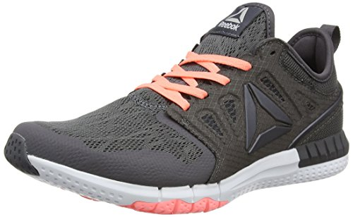 collections nicekicks sale online Reebok Women's Zprint 3D Running Shoes Grey (Ash Grey/Sour Melon/White/Pewter) 5YEVGzOHl