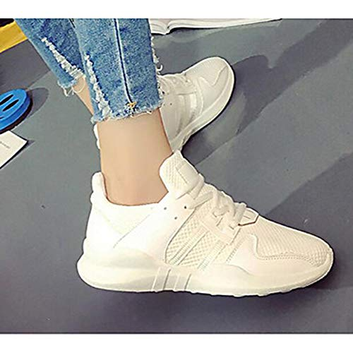UK5 TTSHOES Primavera Casual CN37 Per Di Comoda Estate 5 Rosa Nero Sneakers White US7 Bianco Corda Per Donna Scarpe EU37 rTqSr