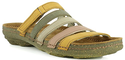 El Naturalista N327 Soft Grain Curry Mixed/Torcal Orange Woman Sandals Elastic loorR