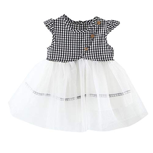 Children's Clothes Children's Clothing in The Big Autumn Casual Suit,Toddler Kids Baby Girls Sleeveless Party Princess Dress+Bowknot Headband Setshi TOU_Children, Black -