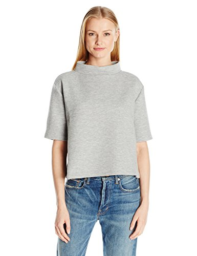 french-connection-womens-marin-ottoman-jersey-top-light-grey-melange-xs