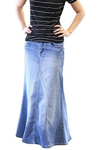 Light Skirt Womens Denim Modest
