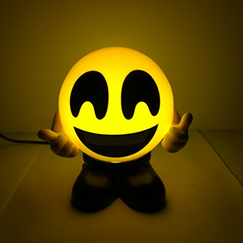 Emoji Laughing Face USB Charger Bedside Lamps