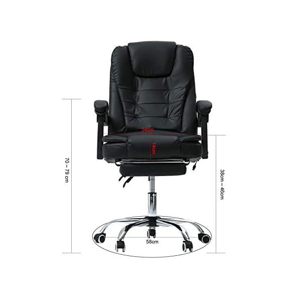 Valens Chaise de Bureau Pivotante, Chaise de Massage Chaise de Bureau, Chaise Ergonomique en PU Réglable en Hauteur avec…