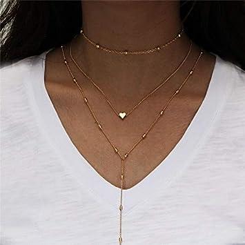 Collar Collar De Perlas Simuladas con Múltiples Capas De Encanto Simple para Mujeres Cuentas Vintage Gargantilla Collares Joyería De Fiesta De Boda Njla134