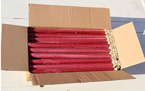 Unbekannt 50 Stück Wachsfackeln Brennzeit 45 min Gartenfackel Fackeln