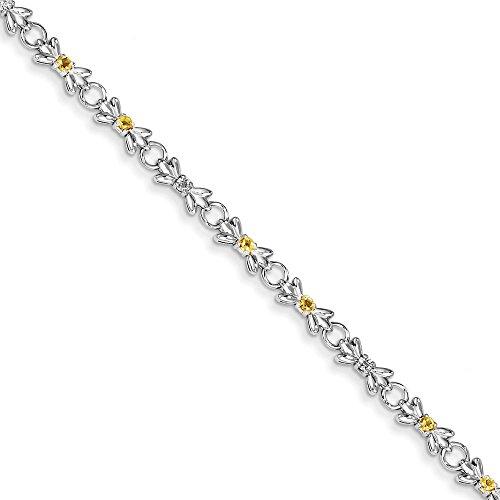 Argent 925/1000 et Citrine-JewelryWeb et Bracelet diamant