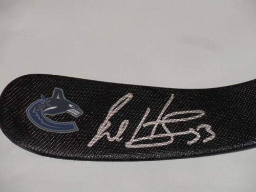 Bo Horvat Signed Hockey Stick Vancouver Canucks Autographed Proof Autographed NHL Sticks