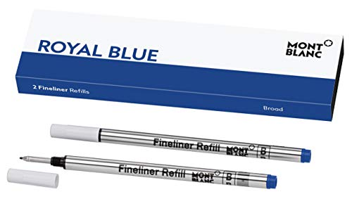 Montblanc Fineliner Refills (B) Pacific Blue 105171 - Pen Refills for Fineliner and Rollerball Pens by Montblanc - 2 x Fiber Tip Pen Refill