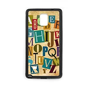 Samsung galaxy note 4 N9100 The letter Phone Back Case Personalized Art Print Design Hard Shell Protection FG043933