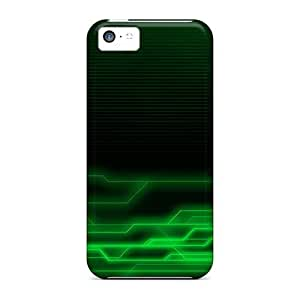 Pretty GqIWFpc2270KxByi Iphone 5c Case Cover/ Green Abstract 2 Series High Quality Case Kimberly Kurzendoerfer