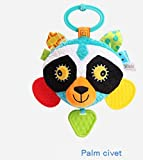 YChoice Cute Baby Toy Kids Infant Lovely Civet Cat Rolling Hand Grasp Mirrors Toy Colorful Safety Mirror Gift