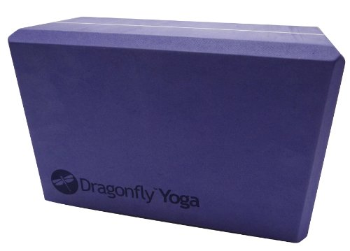 DragonFly Yoga Premium Foam Block, Purple, 4-Inch
