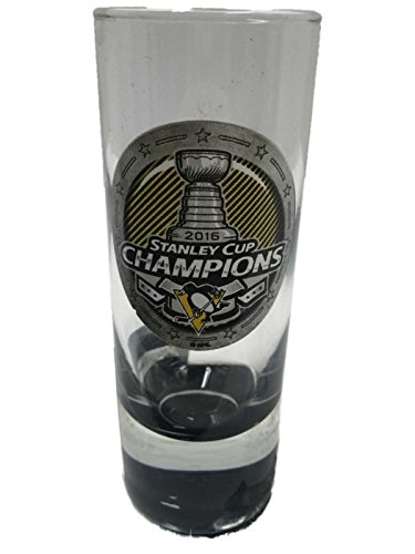 Pittsburgh Penguins 2016 Stanley Cup Champions Hockey Cordial Shot Glass (2 oz)
