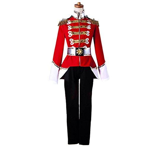AGLAYOUPIN Adult Men Royal Army Soldier Cosplay Costume Uniform -
