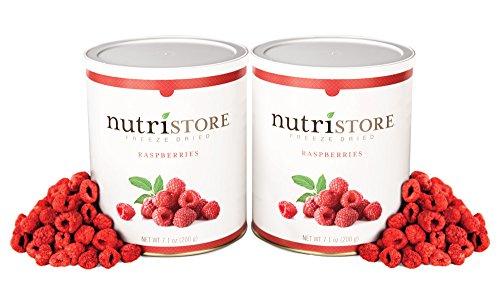 Nutristore Freeze Dried Raspberries by Amazing Taste | Healthy Snack | Survival Food (2-Pack)