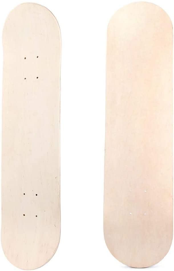 chivalrylist Blank Skateboard Deck 8 Zoll 8 Schicht Maple Wood Blank Double Concave Skateboards Cruiser Holz Deck Natural Skate Deck Board Nat/ürliche