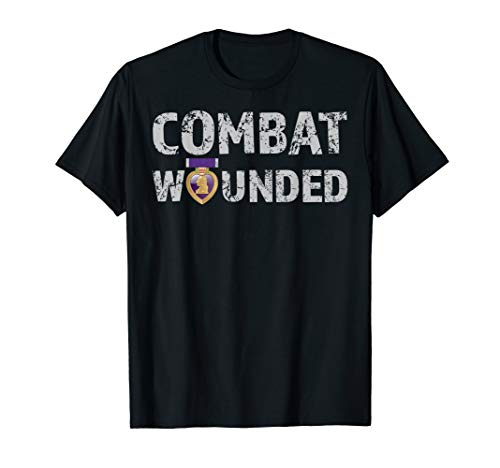 Purple Heart Award Shirt Combat Wounded Veteran Tee (Military Of The Heart)