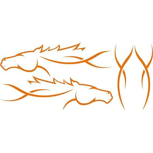 lepni.me 3047_O Pegatina para el Coche Caballo Tribal (Orange)