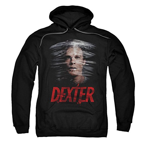 UPC 887806876226, DEXTER/PLASTIC WRAP-ADULT PULL-OVER HOODIE-BLACK-XL