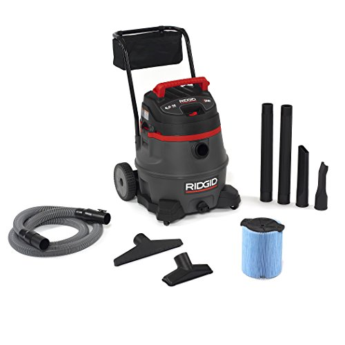 Ridgid 50348 1400RV Wet/Dry Vacuum with Cart, 14 gal, Red