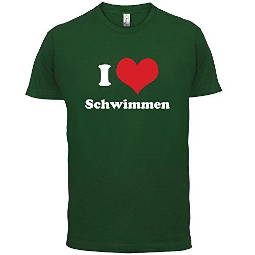 I Love Schwimmen - Herren T-Shirt - Flaschengrün - L